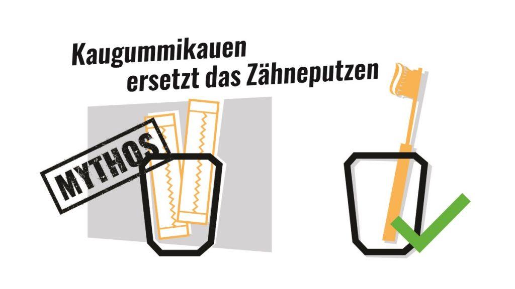 Mythos: Kaugummikauen ersetzt Zähneputzen?
